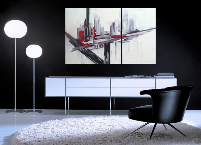 Cuadros abstractos al oleo cuadros abstractos al oleo - Cuadros vintage para salon ...