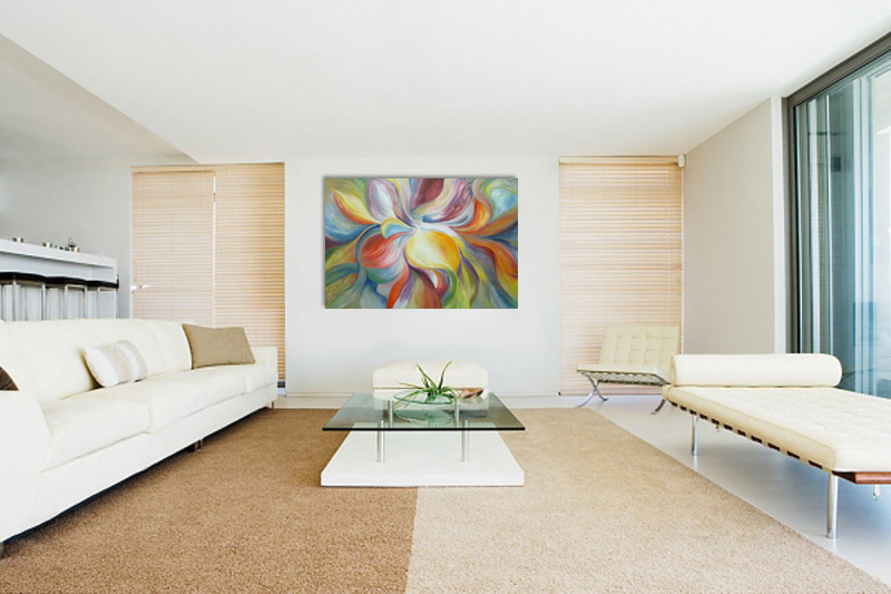 Pintura Para Sala Moderna. Pinturas Cuadros Realistas Echas Por Mi ...