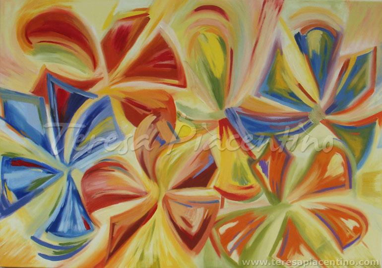 Venta de cuadros pintados al oleo galeria con precios for Fotos de cuadros abstractos sencillos