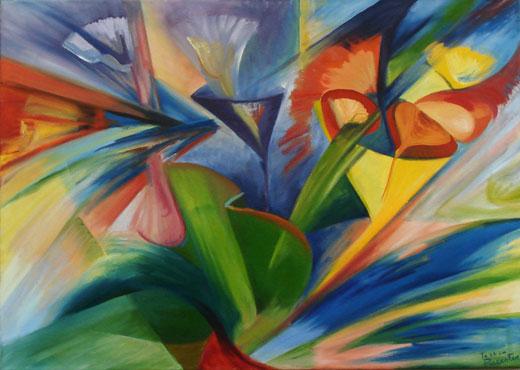 Cuadros abstractos al oleo cuadros al oleo modernos for Fotos de cuadros abstractos al oleo