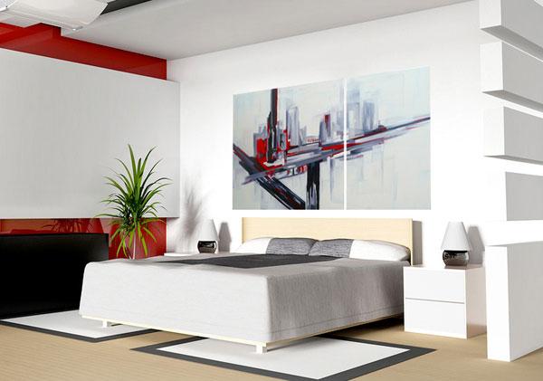 Abstractos cuadros modernos originales pintados al oleo - Pinturas originales para dormitorios ...