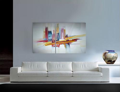 Cuadros abstractos al oleo cuadros modernos originales for Fotos de cuadros abstractos sencillos
